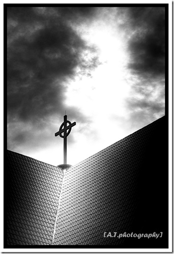 Cross black and white